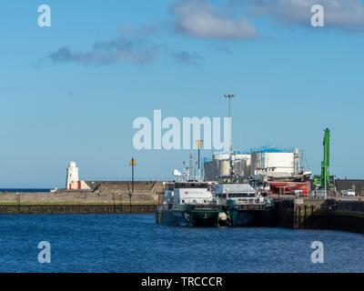 Wick Harbour, Wick, Scotland, UK - Stock Photo