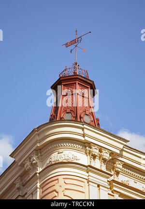 Fragment of old house at Market Square in Przemysl. Poland - Stock Photo