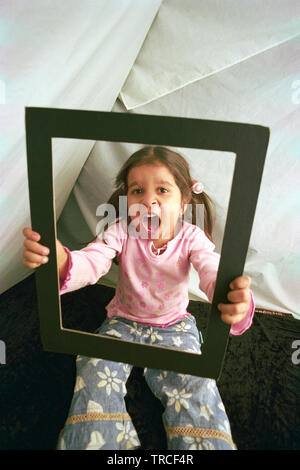 PORTRAIT OF A YOUNG GIRL, WHO AM I REALLY?, - Stock Photo