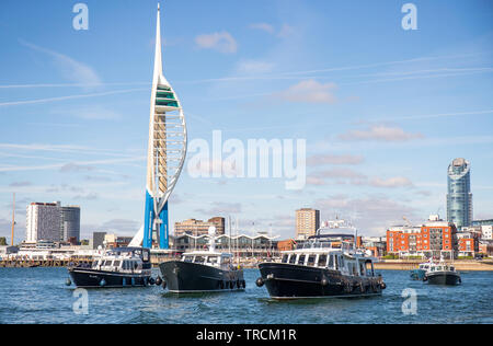The Spinnaker Tower at Gunwharf Quays in Portsmouth, Hampshire, UK - Stock Photo