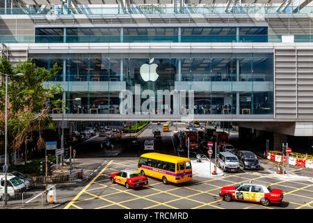 The Apple Store In The IFC Mall, Hong Kong, China - Stock Photo