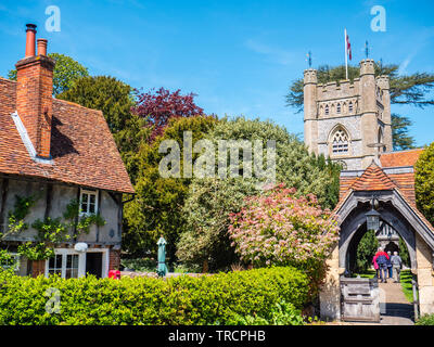 St Mary the Virgin Church Hambleden, used in TV Show Good Omens, Buckinghamshire, England, UK, GB. - Stock Photo