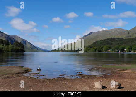 Loch Shiel in Scottish Highlands - Stock Photo