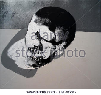 Skull by Andy Warhol 1928 United States of America USA ( American artist, director and producer who was a leading figure in the visual art movement known as pop art. ) - Stock Photo