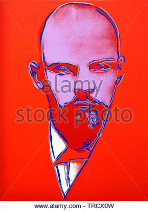 Lenin by  Andy Warhol 1928 United States of America USA ( American artist, director and producer who was a leading figure in the visual art movement known as pop art. ) - Stock Photo