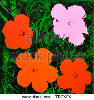 Flowers by Andy Warhol 1928 United States of America USA ( American artist, director and producer who was a leading figure in the visual art movement known as pop art. ) - Stock Photo