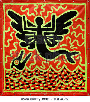 Keith Allen Haring, American artist whose pop art and graffiti-like work grew out of the New York City street culture, United States of America,USA, - Stock Photo
