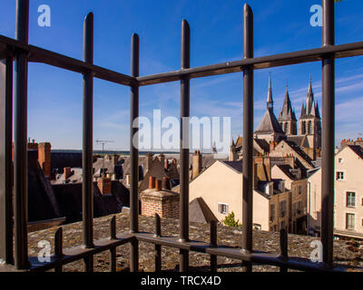 View on church Saint Nicolas of Blois city, Loire-et-Cher department, Centre-Val de Loire, France, Europe - Stock Photo