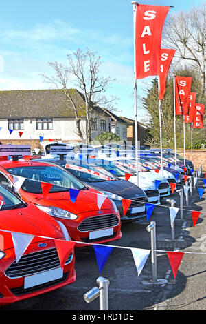 Red White And Blue Auto Sales >> Sale Poster At Ford Car Dealership Business Forecourt