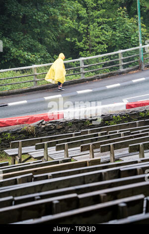 Isle of Man TT (IOM TT) 2019 practice and racing stopped due to rain and bad weather - Stock Photo