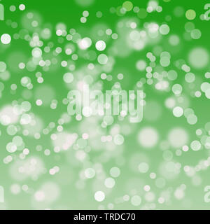green bokeh abstract light background. Vector illustration - Stock Photo