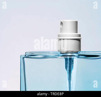 blue perfume bottle - Stock Photo