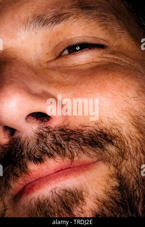 portrait of a bearded man, detail - Stock Photo