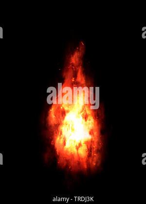 bonfire at night, computer graphik - Stock Photo