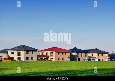 new housing estate Poenitz, Germany, Schleswig-Holstein - Stock Photo