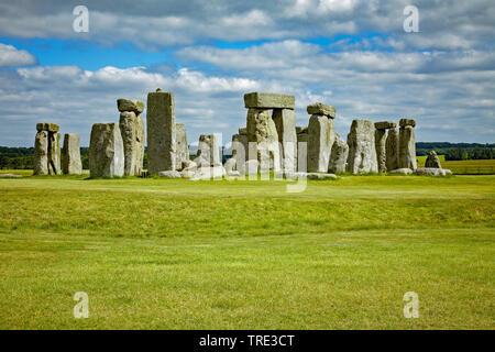 Stonehenge in England, United Kingdom, England - Stock Photo