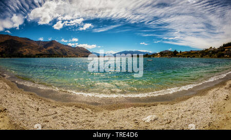 Panoramic view over Lake Wanaka, New Zealand, Otago