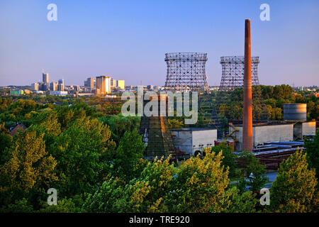 view from Zeche Zollverein to the inner city, Germany, North Rhine-Westphalia, Ruhr Area, Essen - Stock Photo