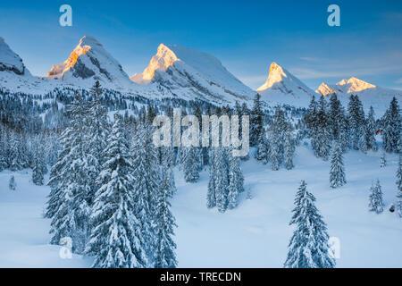 Churfirsten, Toggenburg, Switzerland - Stock Photo