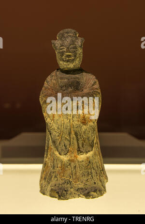 Clay Figure of a Woman. Unified Silla Period. Stone Chamber in an Ancient Tomb, Yonggangdong Gyeongju, North Gyeongsang-do. National Museum of  Korea - Stock Photo