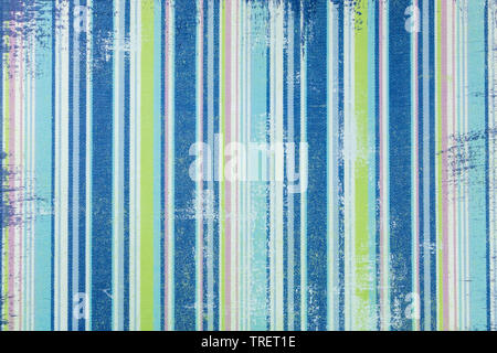 Graphic resource for boy, in old jeans style, with vertical stripes in blue tones - Stock Photo