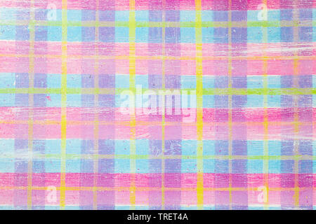 Brightly colored graphic resource, childish plaid pattern - Stock Photo