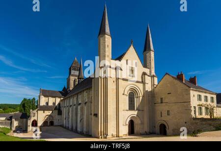Chevet of the abbey church of Fontevraud Abbey, Fontevraud l'Abbaye, Maine-et-Loire, Pays de la Loire, France