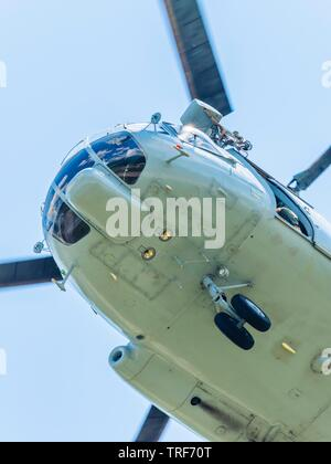 Croatian Air Force Mi-8 MTV-1 helicopter against sky - Stock Photo