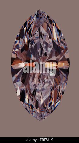 STILL LIFE OF OVAL SHAPED DIAMOND - Stock Photo