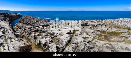 Typical coastal cliffs view, Ireland - Stock Photo