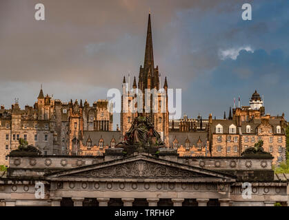 National Gallery of Scotland view from Hanover St, Edinburgh - Stock Photo