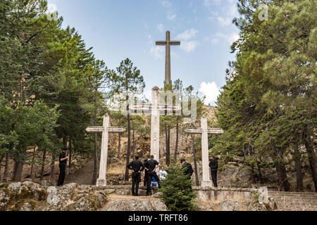 Catholic priests at Valle de los Caidos, where the dictator Francisco Franco was buried. San Lorenzo, Spain, 5th September 2018 - Stock Photo