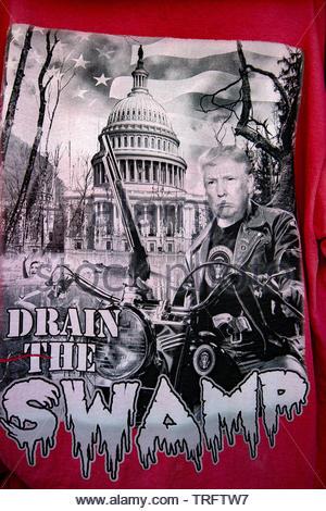 United States, South Dakota, Custer, pro Trump tee shirt - Stock Photo