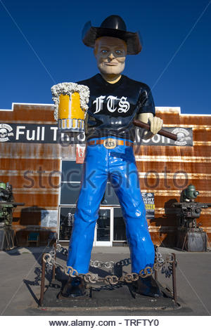 United States, South Dakota, Sturgis, the Full Throttle Saloon is the world largest biker's bar - Stock Photo