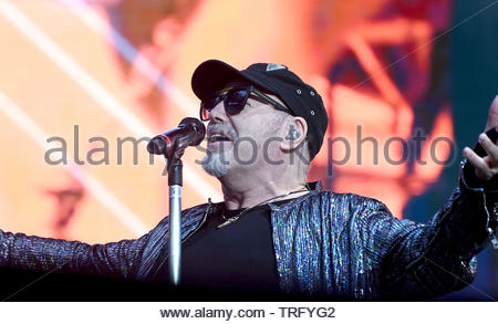 vasco rossi in concert, stadio di san siro, milan 01-06-2019 - Stock Photo