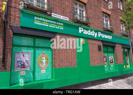 Paddy Power bookmakers in the centre of Wolverhampton, UK - Stock Photo