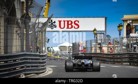 Monte Carlo/Monaco - 23/05/2019 - #44 Lewis HAMILTON (GBR, Mercedes, W10) during FP2 ahead of the 2019 Monaco Grand Prix Stock Photo