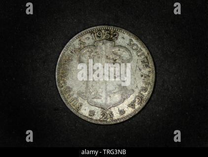 South Africa 1952 - 2 Shillings - Stock Photo