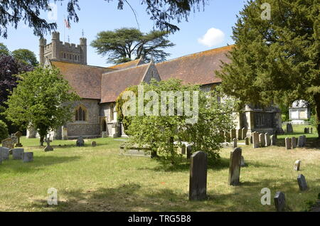 The church of St. Mary the Virgin in the Buckinghamshire village of Hambleden - Stock Photo