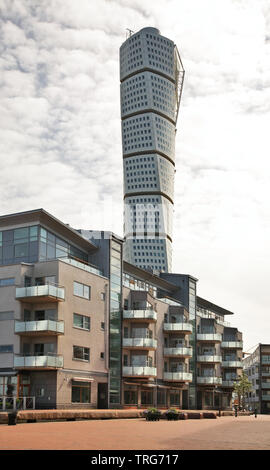 Vastra Hamnen distric in Malmo. Sweden - Stock Photo