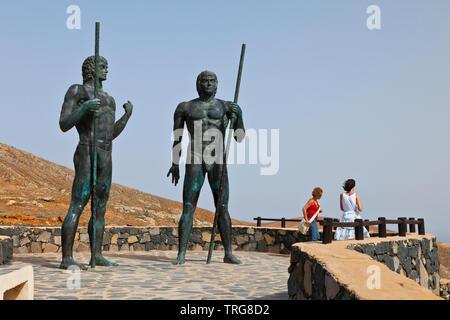 Monumento a los Majos. Parque Rural de Betancuria. Isla Fuerteventura. Provincia Las Palmas. Islas Canarias. España - Stock Photo