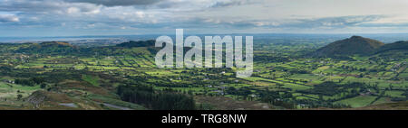 The border country and Ring of Gullion from Slieve Gullion, Co Armagh, Northern Ireland - Stock Photo