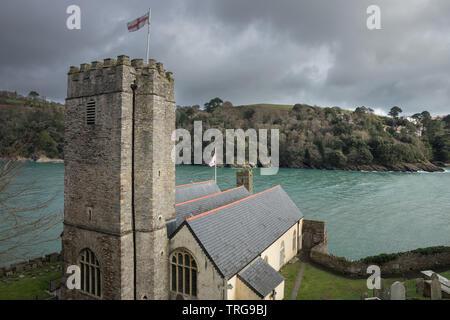 Castle Point at St Petrox Church, Dartmouth, Devon, England, UK - Stock Photo
