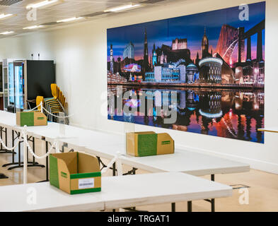 Leith Walk by-election before the count at Edinburgh City Council headquarters, Edinburgh, Scotland, UK - Stock Photo