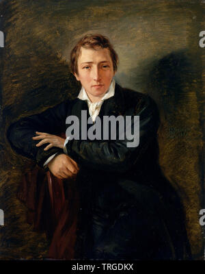 HEINRICH HEINE  (1797-1856) German poet, journalist and literary critic in 1831 - Stock Photo