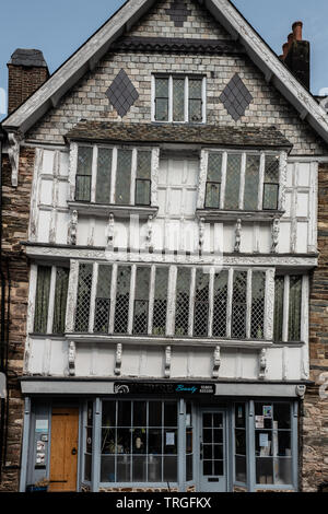 Tudor House, Higher Street, Dartmouth, Devon - Stock Photo