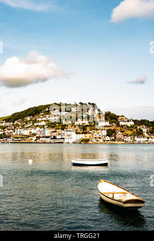 Kingswear Devon from Bayard's Quay Dartmouth - Stock Photo