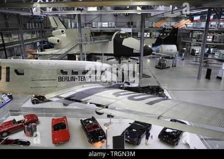 Berlin-Tempelhof Lufthansa. Exhibition 'Apollo and Beyond'. Musée des techniques de Spire. Technik Museum Speyer. Allemagne. - Stock Photo