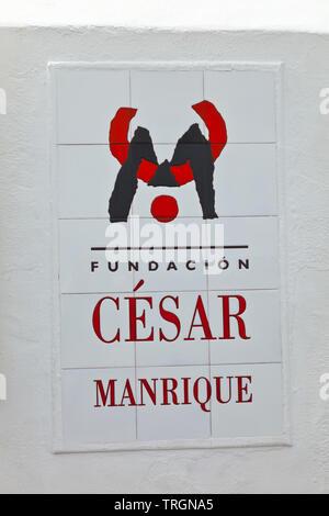 Fundación César Manrique. Pueblo Tahiche. Isla Lanzarote. Provincia Las Palmas. Islas Canarias. España - Stock Photo