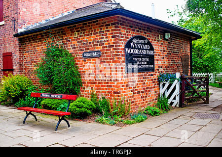 Ex Thorpe Thewles Railway Station, Wynyard Woodland Park, North East England - Stock Photo